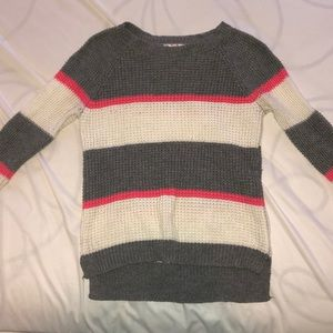 So American Heritage Juniors Sweater Pullover XS Burgundy Pink Cable Knit NWT
